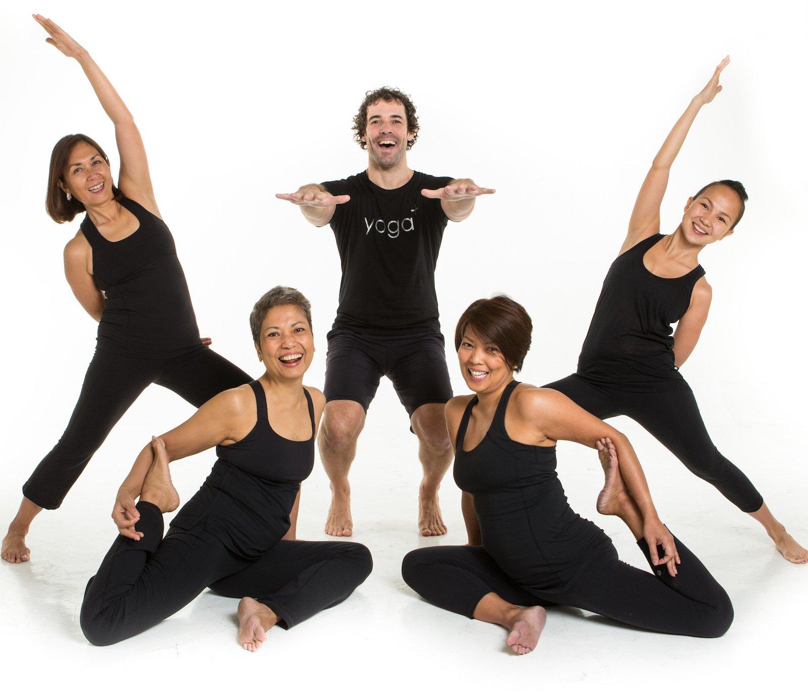 Manila, , Philippines - Yoga+ company shoot of staff, instructors and board members; shot at Bulb Studio, Makati.